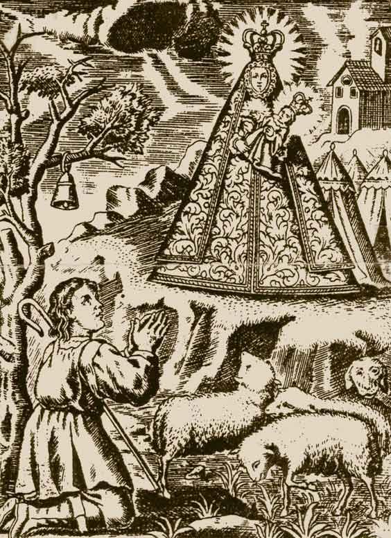 litografia-antigua-Virgen-de-la-Cabeza