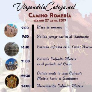 CAMINO Romeria Virgen Cabeza 2019