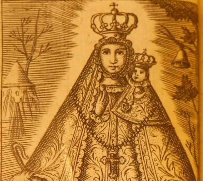 Virgen de la Cabeza dibujo 1745