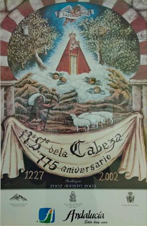 Cartel 750 aniversario aparición Virgen de la Cabeza