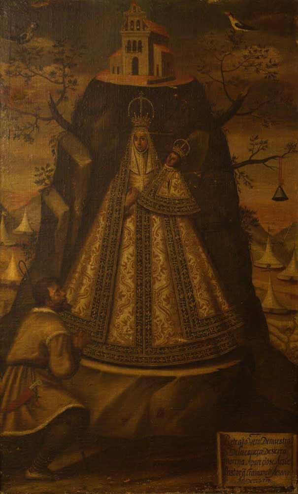 Cuadro Virgen de la Cabeza corona indiano