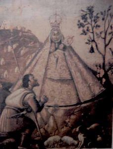 Cuadro aparicion Virgen de la Cabeza Baños de la Encina