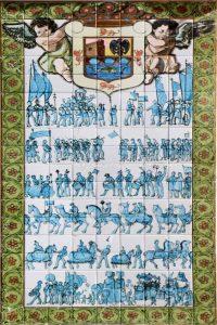 ceramica Virgen Cabeza camino por Palenciano