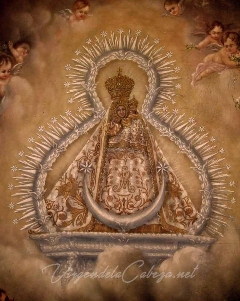 cuadro Virgen Cabeza Santa Marina