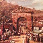 Cuadro arco santuario pintor González Orea