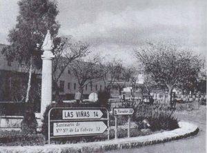 Rotonda monumento carretera Virgen de la Cabeza