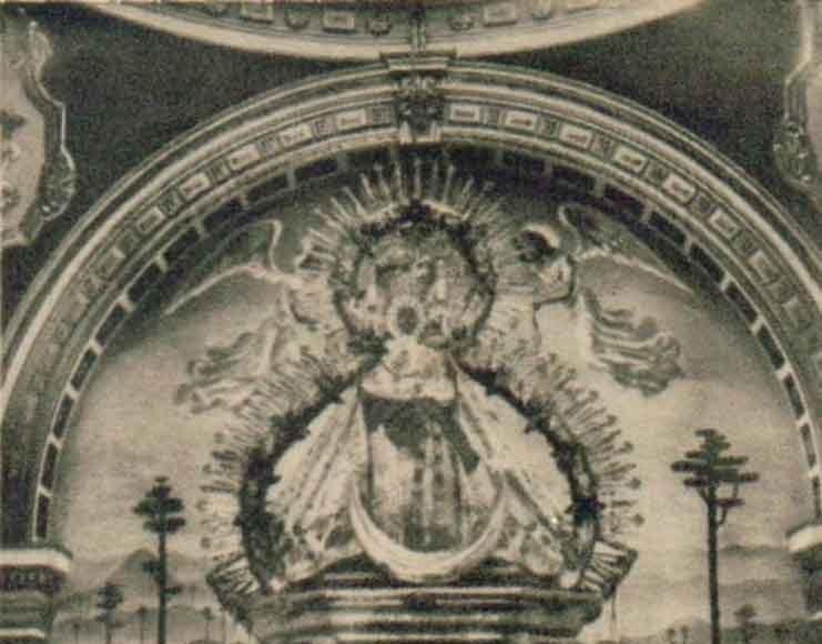 Estampa Virgen de la Cabeza 1957