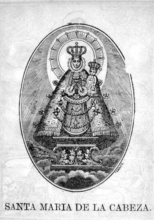 litografia Virgen de la Cabeza