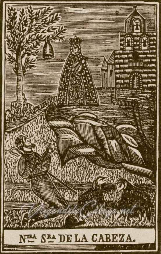 litografia-Virgen-de-la-cabeza-aparicion
