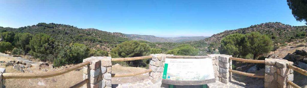 Mirador del Peregrino-carretera Virgen de la Cabeza