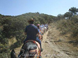 camino en mulo Virgen de la Cabeza 3