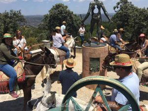 camino en mulo Virgen de la Cabeza 7