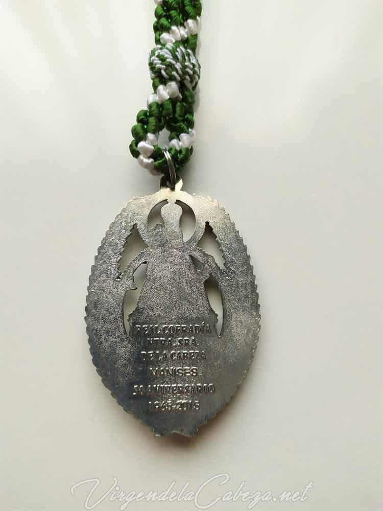 Medalla cofradía Manises, reverso
