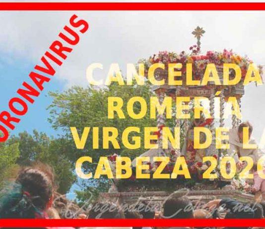 Cancelada romería Virgen de la Cabeza 2020