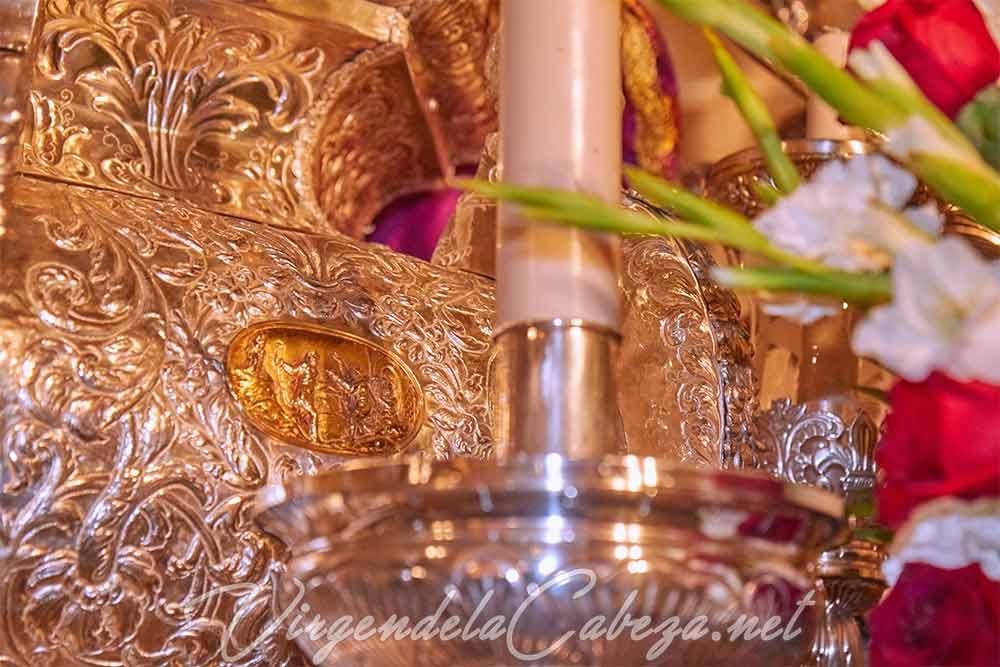 Peana Virgen de la Cabeza detalle