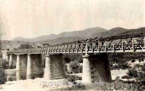 Puente de hierro santuario foto antigua