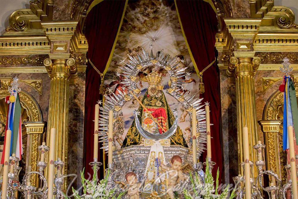 Altar aparición Virgen de la Cabeza 2020
