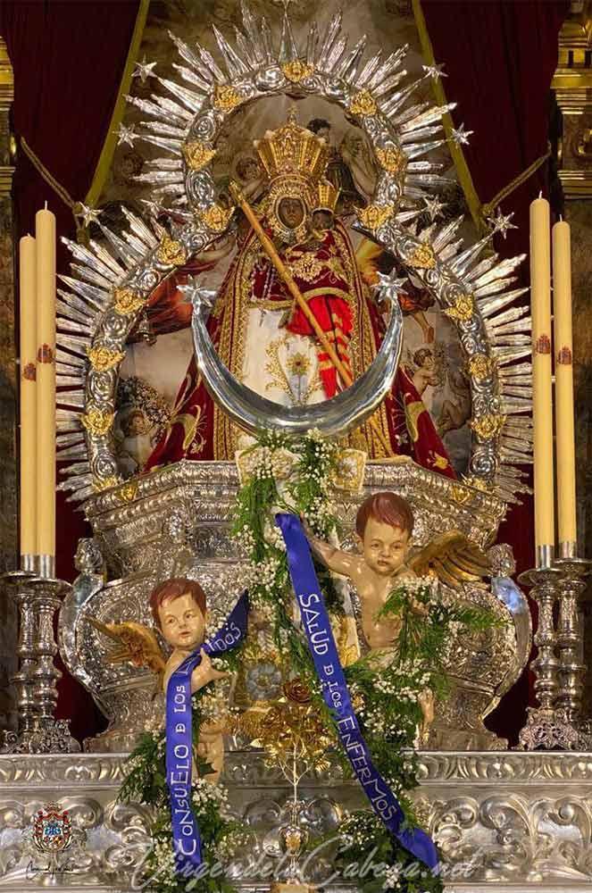 Manto Juan Pablo II Virgen de la Cabeza