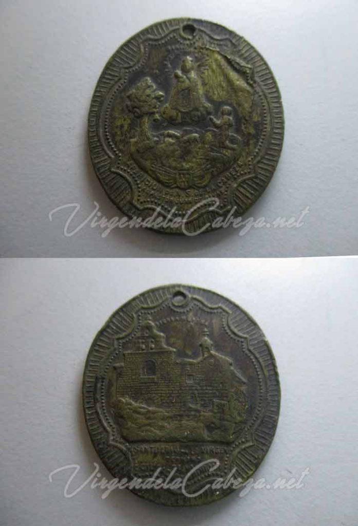 Medalla Virgen Cabeza antigua