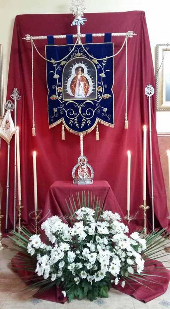 Estandarte Castillo de Locubin Virgen de la Cabeza