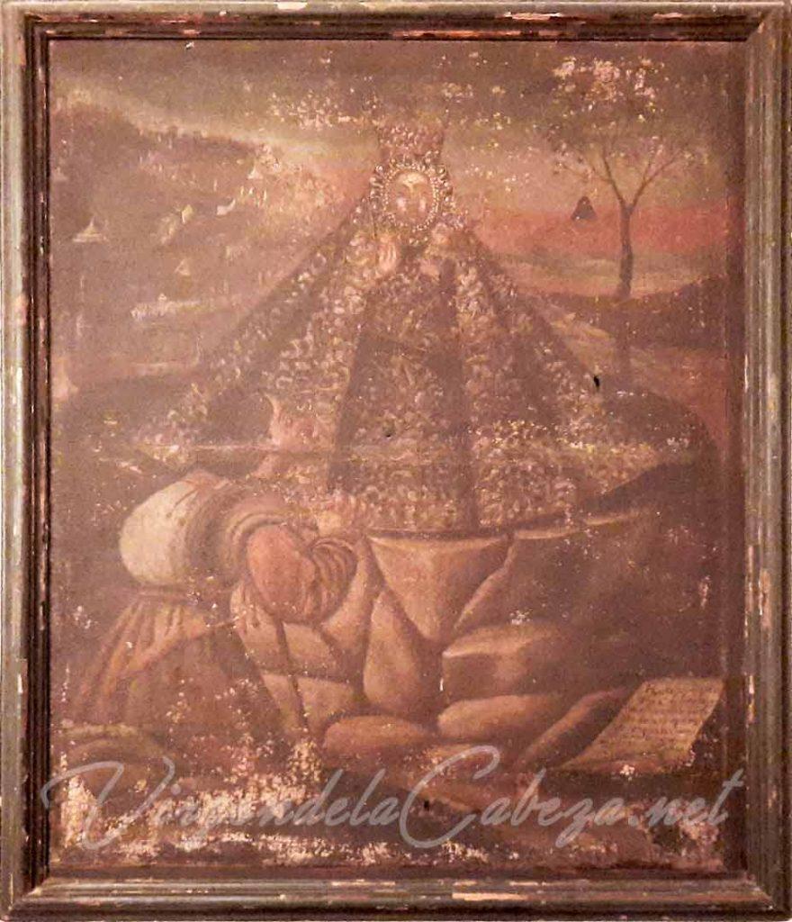 Cuadro Virgen de la Cabeza antiguo Córdoba