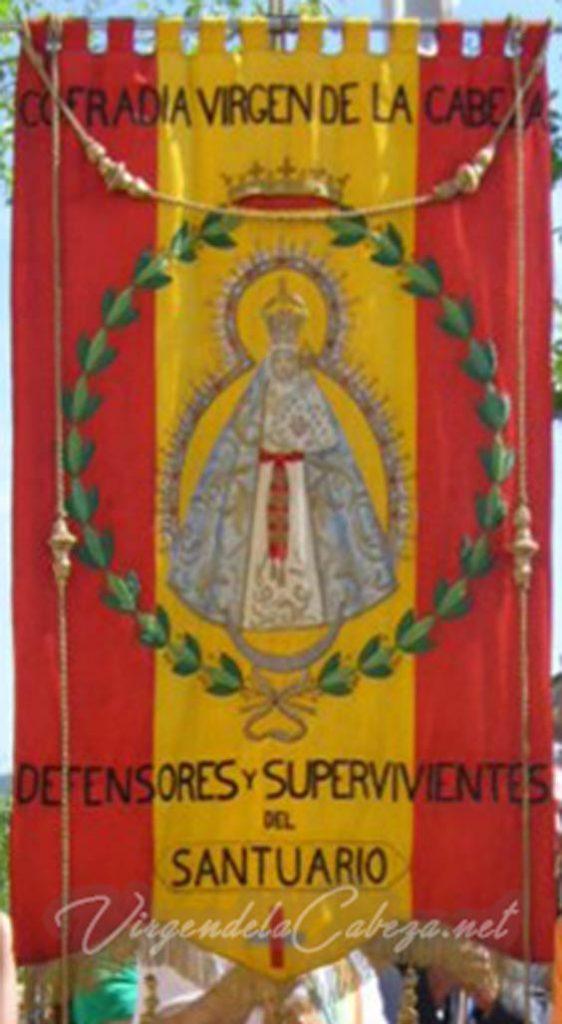 Estandarte Defensores Supervivientes Santuario Virgen de la Cabeza