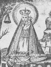 Iconografía Virgen de la Cabeza resplandor sol