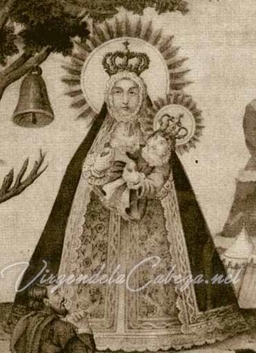 Iconografía Virgen de la Cabeza antigua resplandor