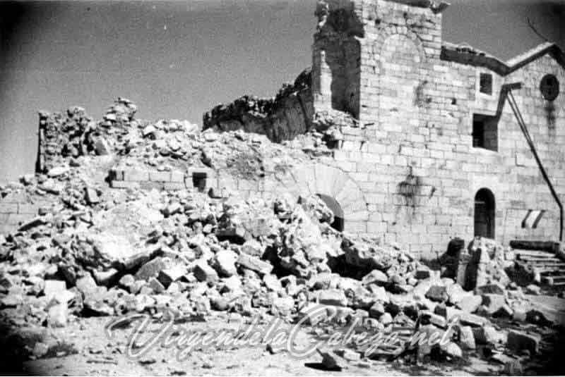 Santuario bombardeado Guerra Civil