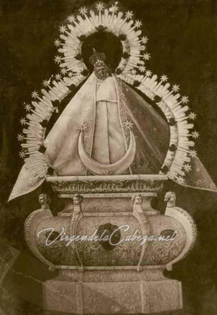 Iconografía Virgen de la Cabeza manto