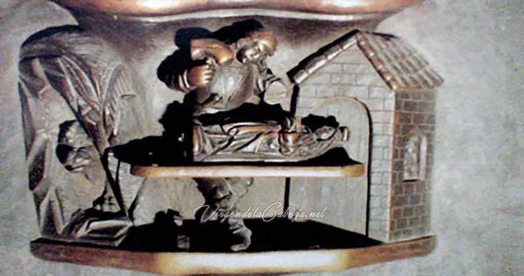 Esculpiendo Virgen de la Cabeza Plasencia