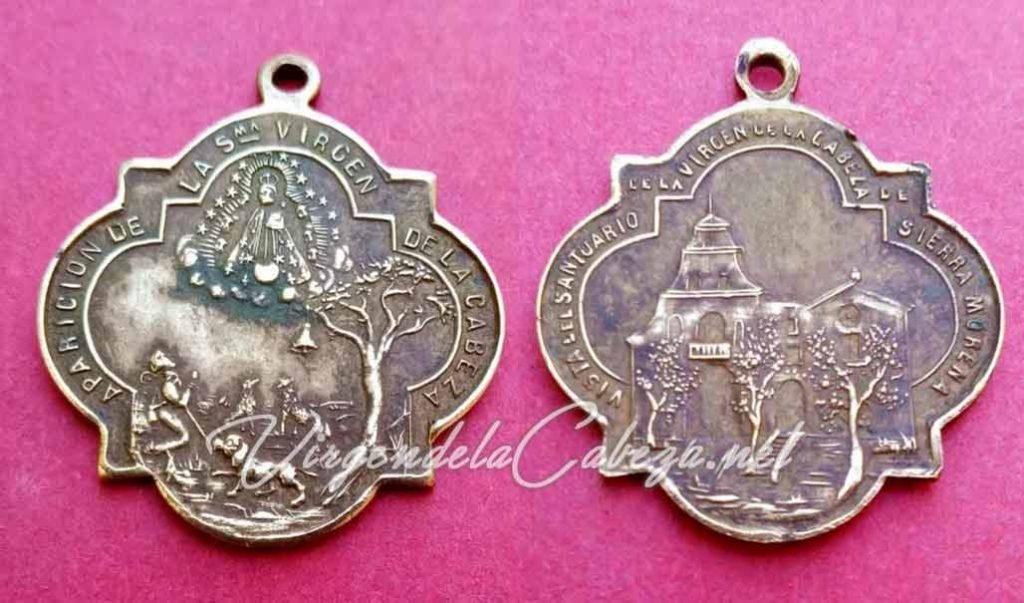 medalla-antigua-diseño-Virgen-Cabeza