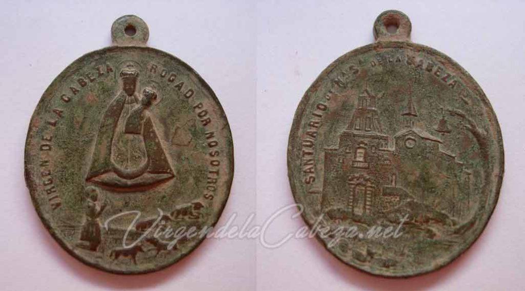 medalla-antigua-virgen-cabeza-almansa