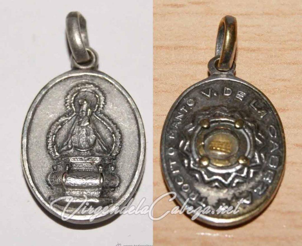 medalla relicario Virgen Cabeza relicario oval