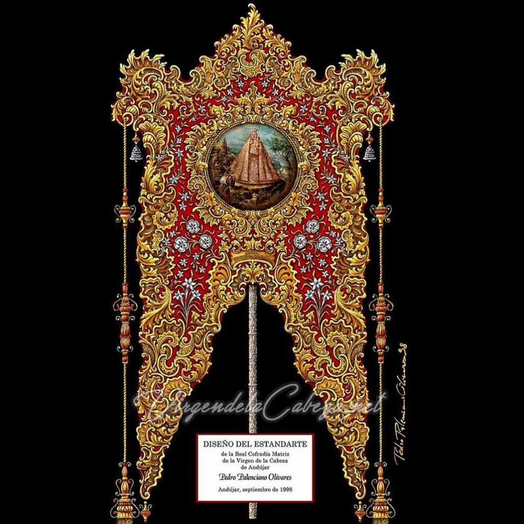 Diseño estandarte Virgen Cabeza de Pedro Palenciano