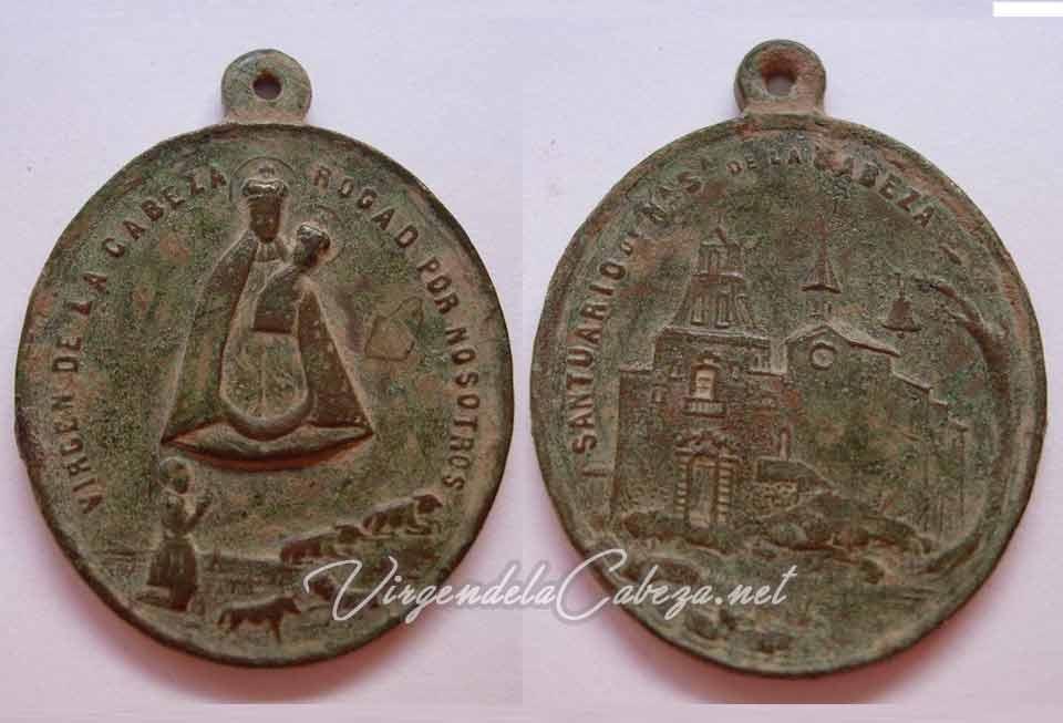 medalla-antigua-virgen-de la Cabeza siglo XIX
